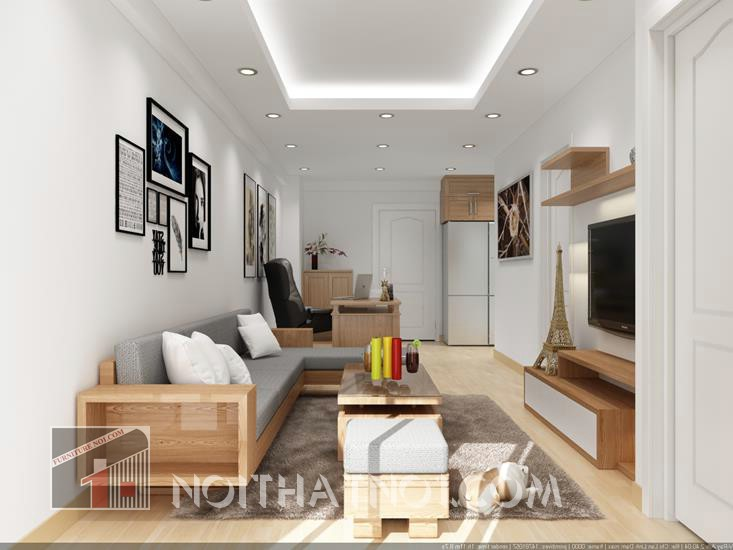 sofa gỗ nhỏ gọn cao cấp