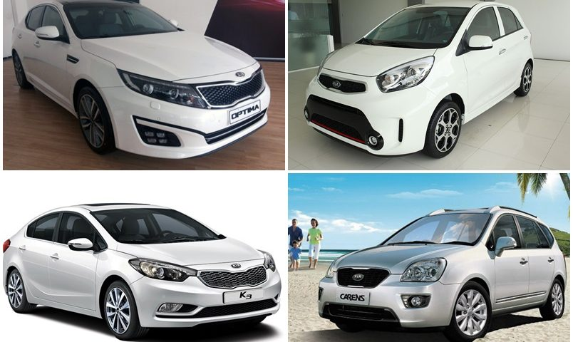Nhiều mẫu xe kia giảm giá mạnh