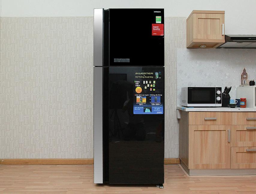 Thiết kế sang trọng và đẳng cấp của tủ lạnh Hitachi inverter VG540PGV3GBK