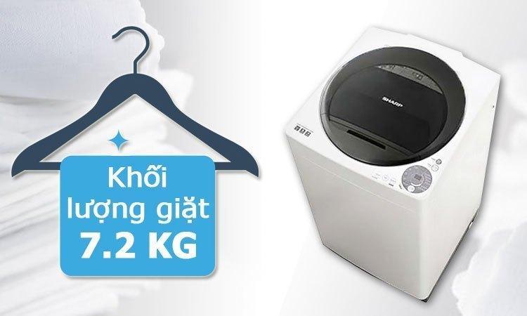 Sản phẩm máy giặt lồng đứng của thương hiệu Sharp