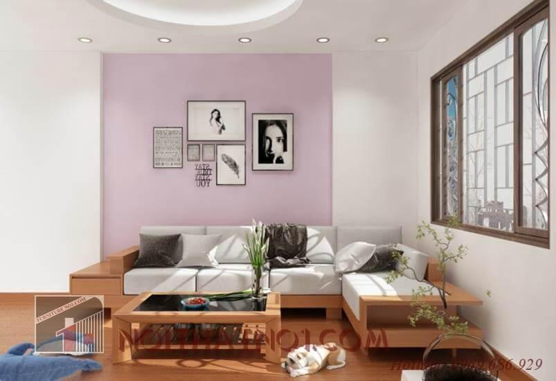 Sofa gỗ phòng khách hiện đại đẹp nhất