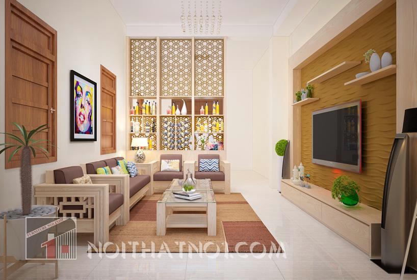 Bàn ghế sofa gỗ tự nhiên phòng khách