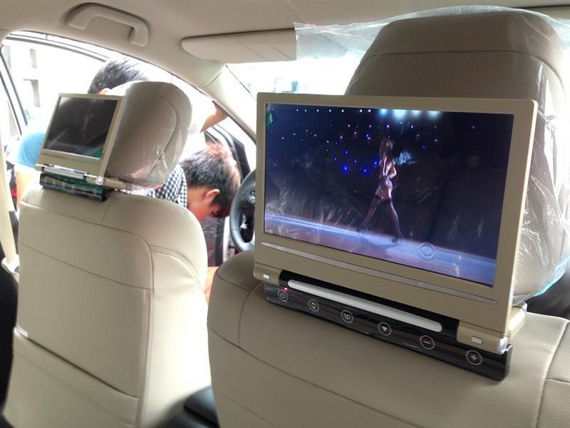 Lắp đặt màn hình gối đầu cho xe hơi