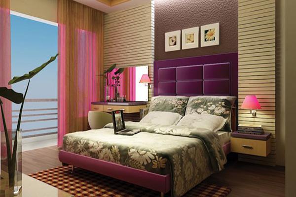 Bài trí trong phòng ngủ và giường của gia chủ