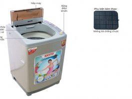 Hướng dẫn vắt quần áo bằng máy giặt sanyo