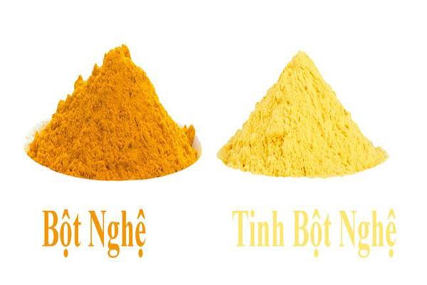 Tinh bột nghệ vàng nguyên chất và tác dụng