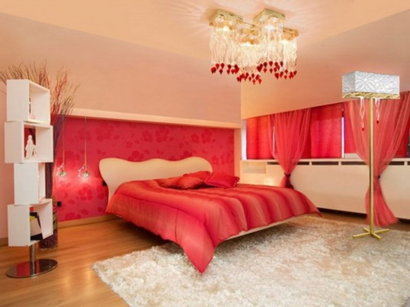 Trang trí phòng cưới với gam màu đỏ đẹp