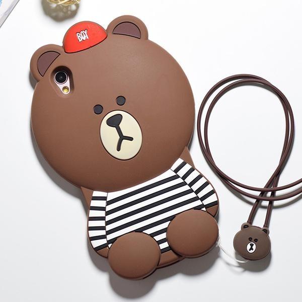 Một set ốp thú Oppo F1 hình gấu Brown nổi tiếng.