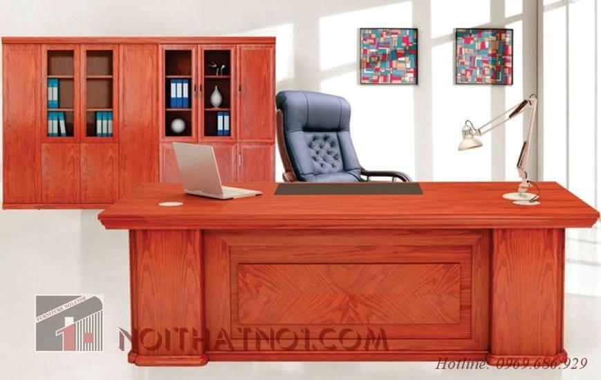 mẫu bàn giám đốc đẹp gỗ xoan