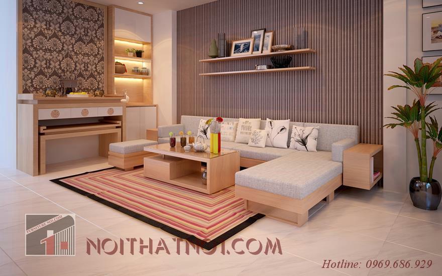 Mẫu sofa gỗ nhỏ gọn