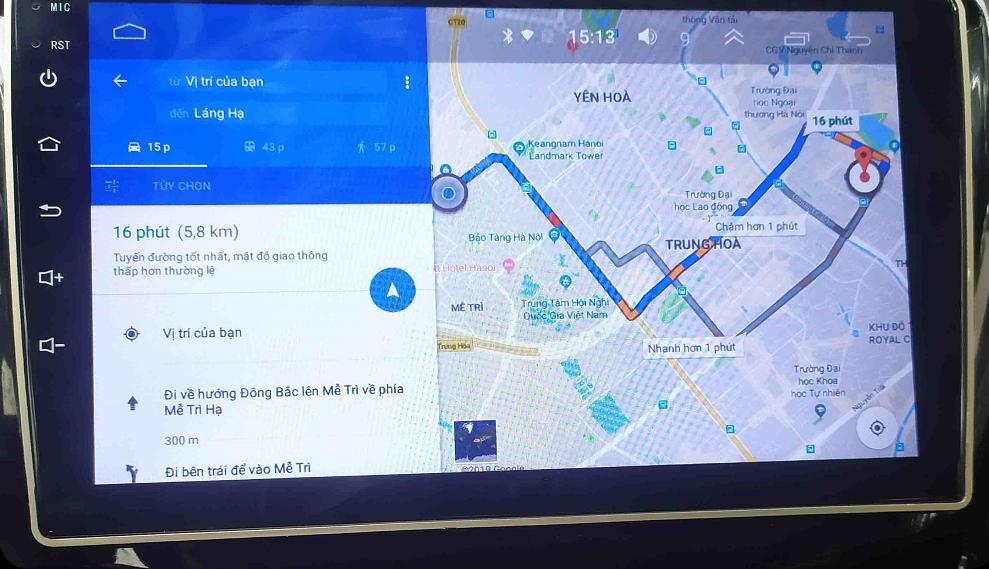 Thiết bị càn sẵn bản đồ dẫn đường Google Maps