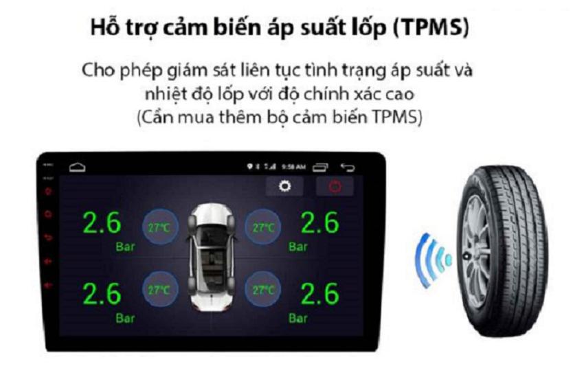 Siêu phẩm có hỗ trợ kết nối cảm biến áp suất lốp TPMS